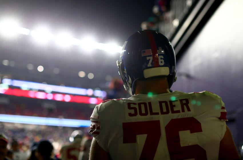 Nate Solder, New York Giants. (Photo by Adam Glanzman/Getty Images)