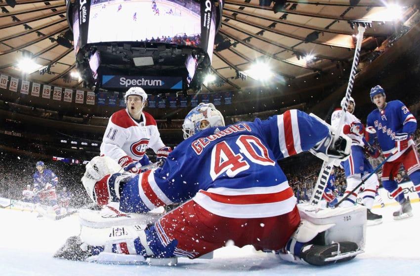 Alexandar Georgiev, New York Rangers. (Photo by Bruce Bennett/Getty Images)