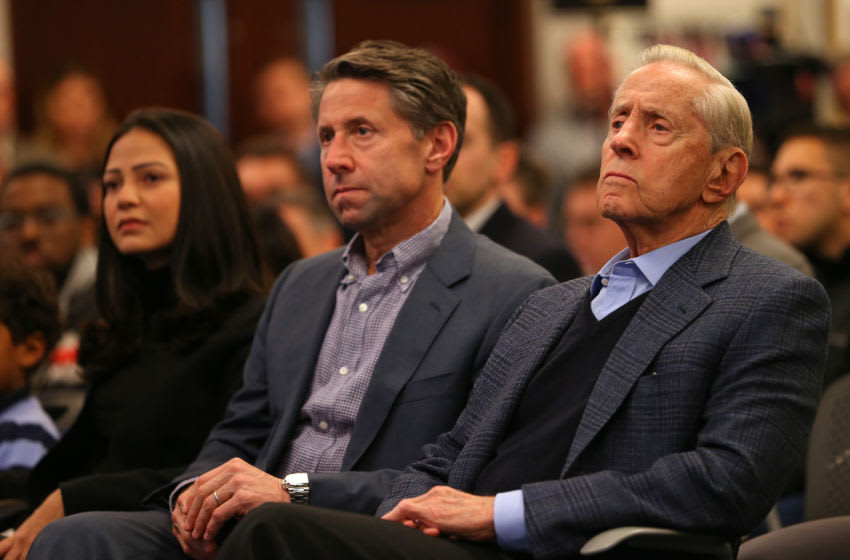 New York Mets Chief Operating Officer Jeff Wilpon and Chief Executive Officer Fred Wilpon. (Photo by Rich Schultz/Getty Images) (Photo by Rich Schultz/Getty Images)