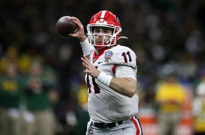 Jake Fromm, Georgia Bulldogs, Buffalo Bills. (Photo by Chris Graythen/Getty Images)