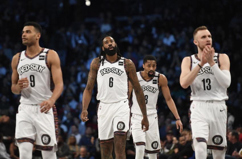 Spencer Dinwiddie, Deandre Jordan, Brooklyn Nets. (Photo by Sarah Stier/Getty Images)