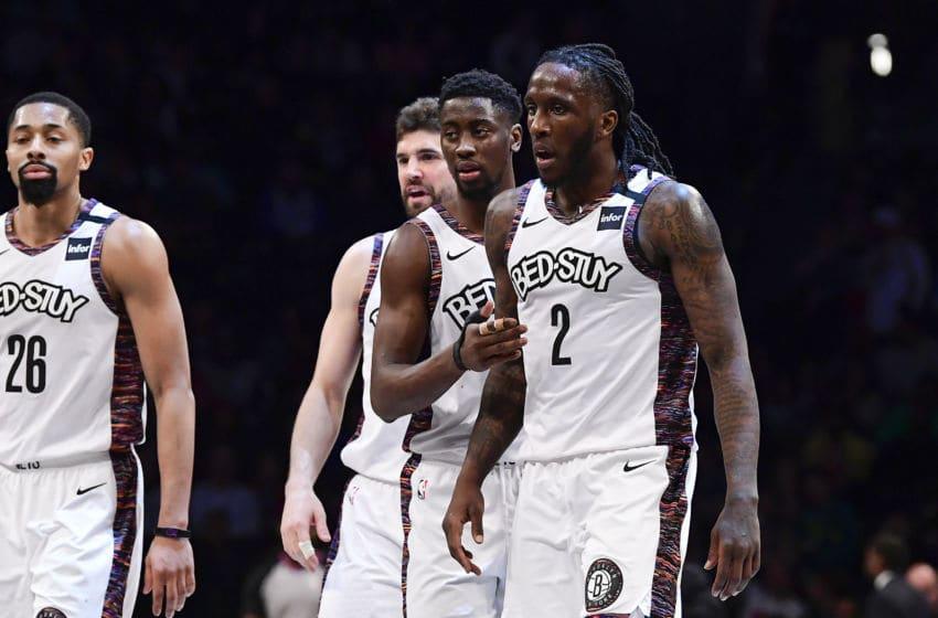 Taurean Prince, Caris LeVert, Brooklyn Nets. (Photo by Steven Ryan/Getty Images)