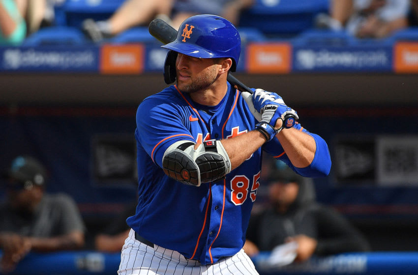 Tim Tebow, New York Mets. (Photo by Mark Brown/Getty Images)