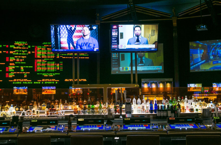 The bar at Caesars Palace Sportsbook. (Photo by George Rose/Getty Images)