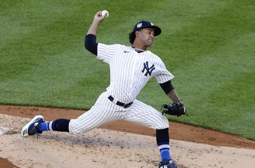 Deivi Garcia, New York Yankees. (Photo by Jim McIsaac/Getty Images)