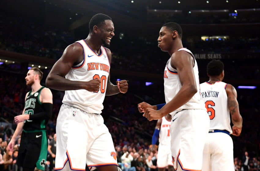 Julius Randle, RJ Barrett, New York Knicks. (Photo by Emilee Chinn/Getty Images)