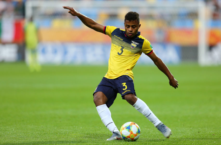 GDYNIA, POLAND - JUNE 14: Diego Jose Palacios Espinoza of Ecuador in action during the FIFA U-20 World Cup bronze medal match between Ecuador and Italy on June 14, 2019 in Gdynia, Poland. (Photo by Piotr Matusewicz/PressFocus/MB Media/Getty Images)