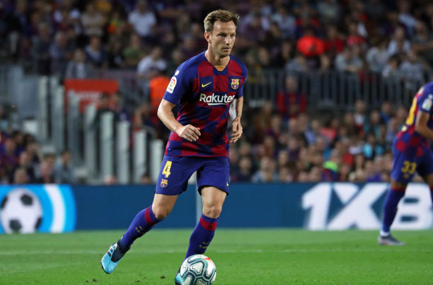 Ivan Rakitic during the match between FC Barcelona and Sevilla FC, corresponding to the week 8 of the spanish Liga Santarder, on 06th October 2019, in Barcelona, Spain. (Photo by Joan Valls/Urbanandsport /NurPhoto via Getty Images)