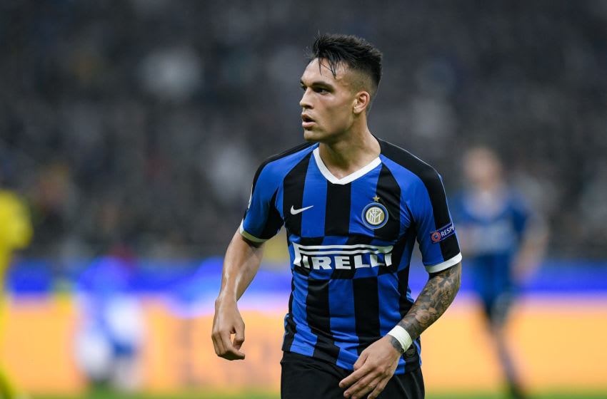 Lautaro Martinez of FC Internazionale looks dejected during the UEFA Champions League group stage match between Internazionale and Borussia Dortmund at Stadio San Siro, Milan, Italy on 23 October 2019 (Photo by Giuseppe Maffia/NurPhoto via Getty Images)