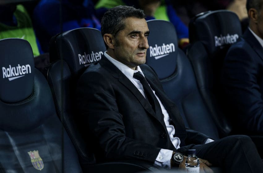 Ernesto Valverde from Spain of FC Barcelona during the La Liga match between FC Barcelona and Real Valladolid in Camp Nou Stadium in Barcelona 29 of October of 2019, Spain. (Photo by Xavier Bonilla/NurPhoto via Getty Images)