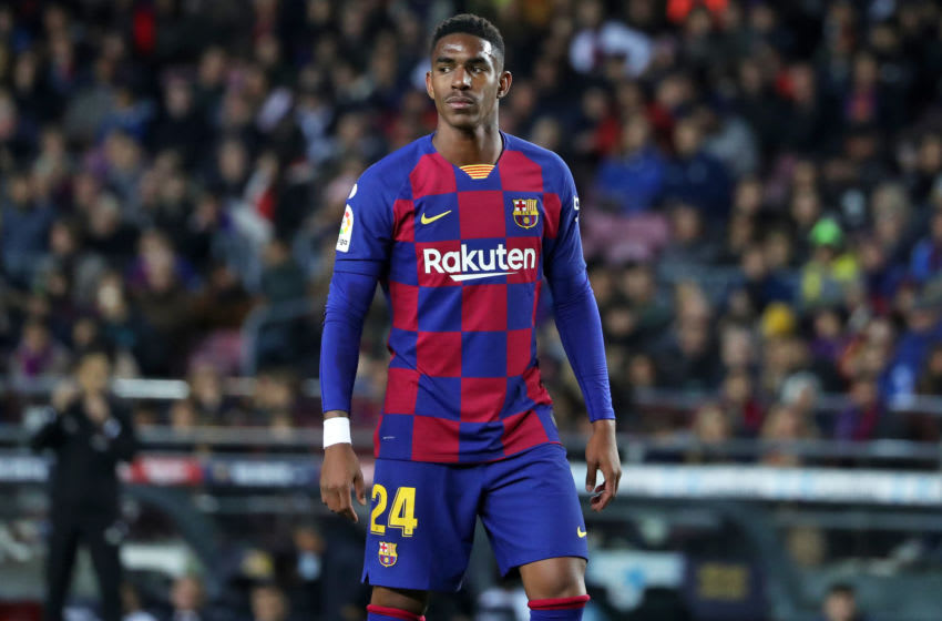 Junior Firpo during the match between FC Barcelona and Real Club Celta de Vigo, played at the Camp Nou Stadium, corresponding to the week 13 of the Liga Santander, on 09th November 2019, in Barcelona, Spain. (Photo by Joan Valls/Urbanandsport /NurPhoto via Getty Images)
