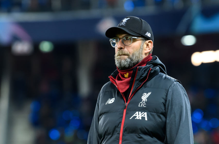 SALZBURG, AUSTRIA - DECEMBER 10: (BILD ZEITUNG OUT) head coach Juergen Klopp of FC Liverpool looks on during the UEFA Champions League group E match between RB Salzburg and Liverpool FC at Red Bull Arena on December 10, 2019 in Salzburg, Austria. (Photo by TF-Images/Getty Images)