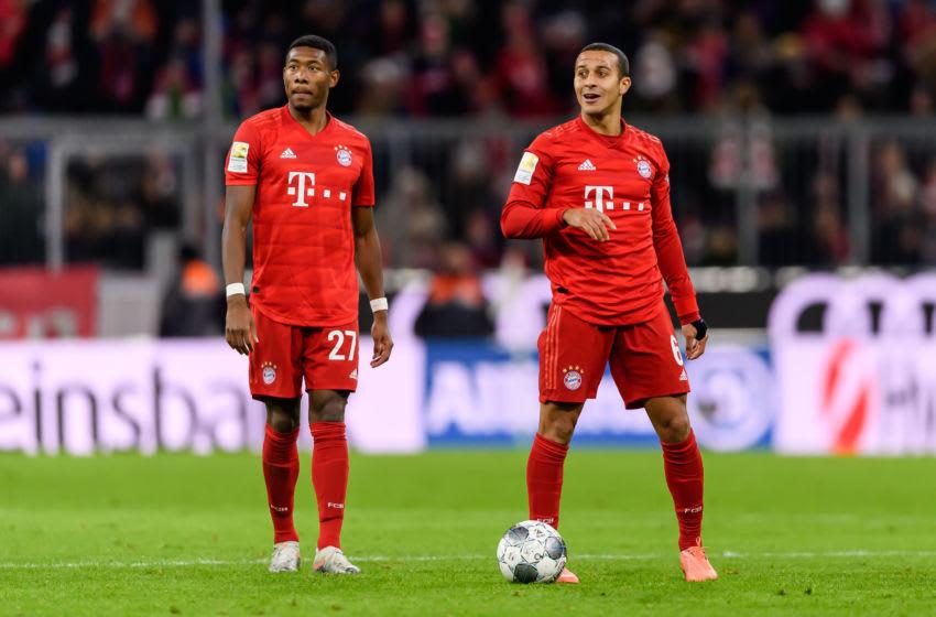 Bayern Munich duo David Alaba and Thiago Alcantara (Photo by TF-Images/Getty Images)