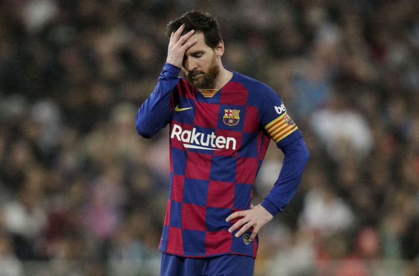 MADRID, SPAIN - MARCH 1: Lionel Messi of FC Barcelona during the La Liga Santander match between Real Madrid v FC Barcelona at the Santiago Bernabeu on March 1, 2020 in Madrid Spain (Photo by David S. Bustamante/Soccrates/Getty Images)