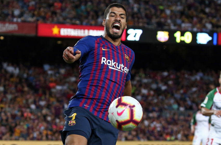 Luis Suarez during the match between FC Barcelona and Deportivo Alaves, corresponding to the week 1 of que spanish league, played at the Camp Nou, on 18th August, 2018, in Barcelona, Spain. -- (Photo by Urbanandsport/NurPhoto via Getty Images)