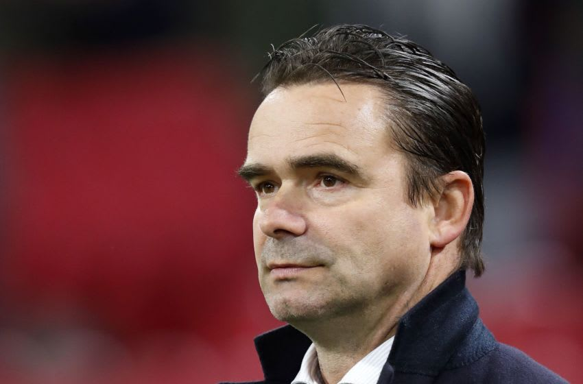 Ajax technical director Marc Overmars during the Second round Dutch Cup match between Ajax Amsterdam and Go Ahead Eagles Deventer at the Johan Cruijff Arena on October 31, 2018 in Amsterdam, The Netherlands(Photo by VI Images via Getty Images)