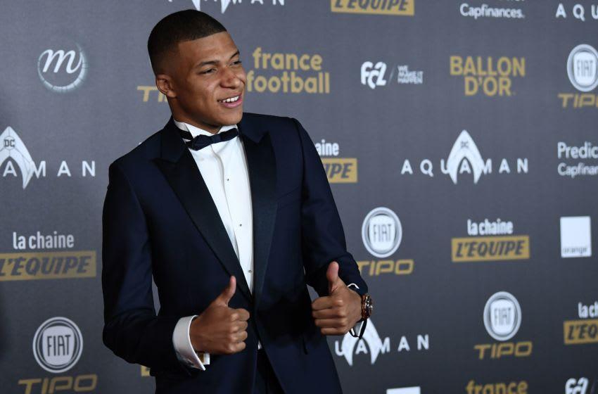 Paris Saint-Germain's French forward Kylian Mbappe. (Photo credit FRANCK FIFE/AFP via Getty Images)
