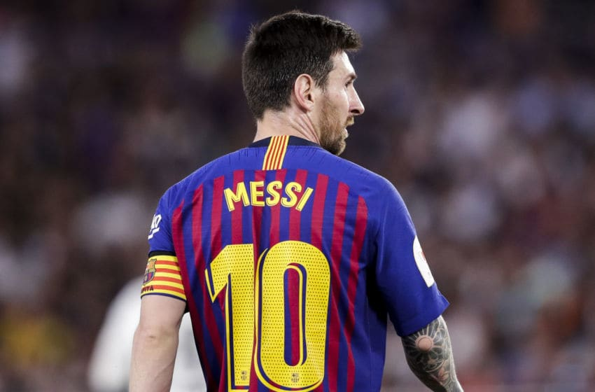 SEVILLIA, SPAIN - MAY 25: Lionel Messi of FC Barcelona during the Spanish Copa del Rey match between FC Barcelona v Valencia at the Benito Villamarin Stadium on May 25, 2019 in Sevillia Spain (Photo by David S. Bustamante/Soccrates/Getty Images)