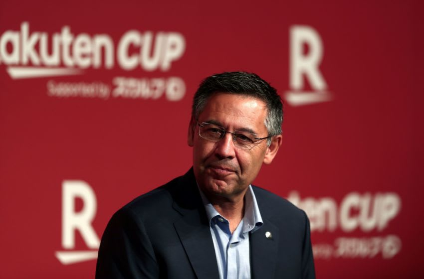 President of FC Barcelona Josep Maria Bartomeu attends a reception party for the football team in Tokyo on July 21, 2019. - Barcelona and Chelsea will play for the Rakuten Cup in Saitama on July 23. (Photo by Behrouz MEHRI / AFP) (Photo credit should read BEHROUZ MEHRI/AFP via Getty Images)
