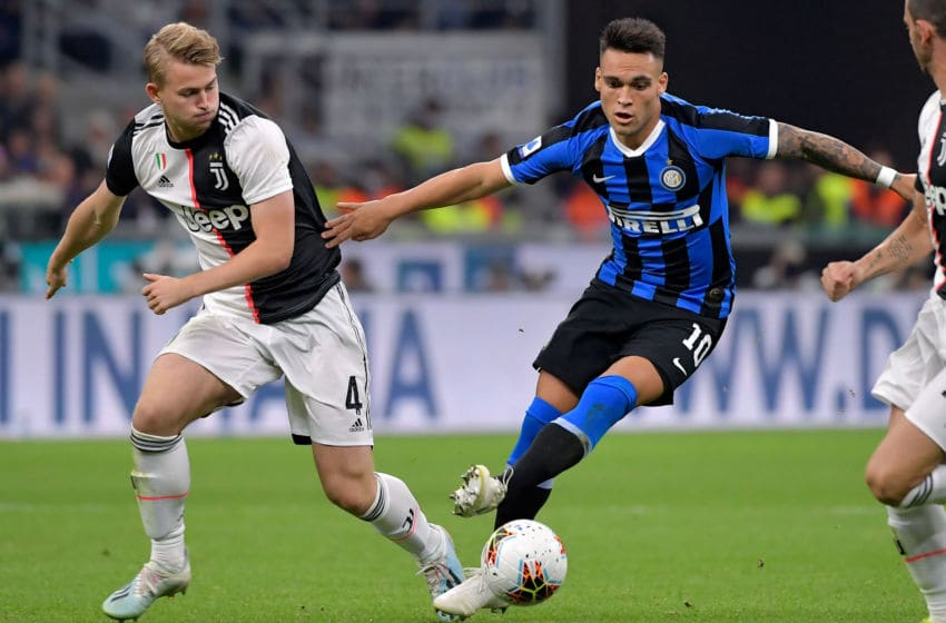 Matthijs de Ligt of Juventus, Lautaro Martinez of Internazionale (Photo by Mattia Ozbot/Soccrates/Getty Images)