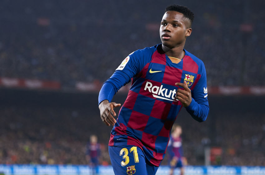 Anssumane Fati of FC Barcelona. (Photo by Quality Sport Images/Getty Images)
