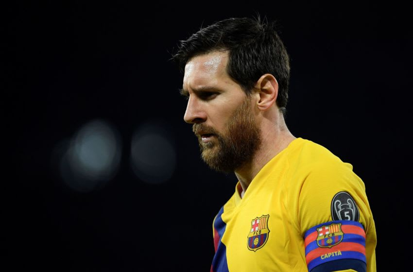 Barcelona's Argentine forward Lionel Messi (Photo by Filippo MONTEFORTE / AFP) (Photo by FILIPPO MONTEFORTE/AFP via Getty Images)
