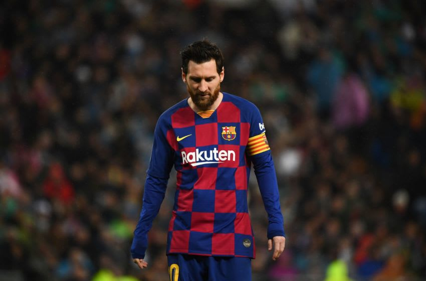 Barcelona's Argentine forward Lionel Messi (Photo by GABRIEL BOUYS/AFP via Getty Images)
