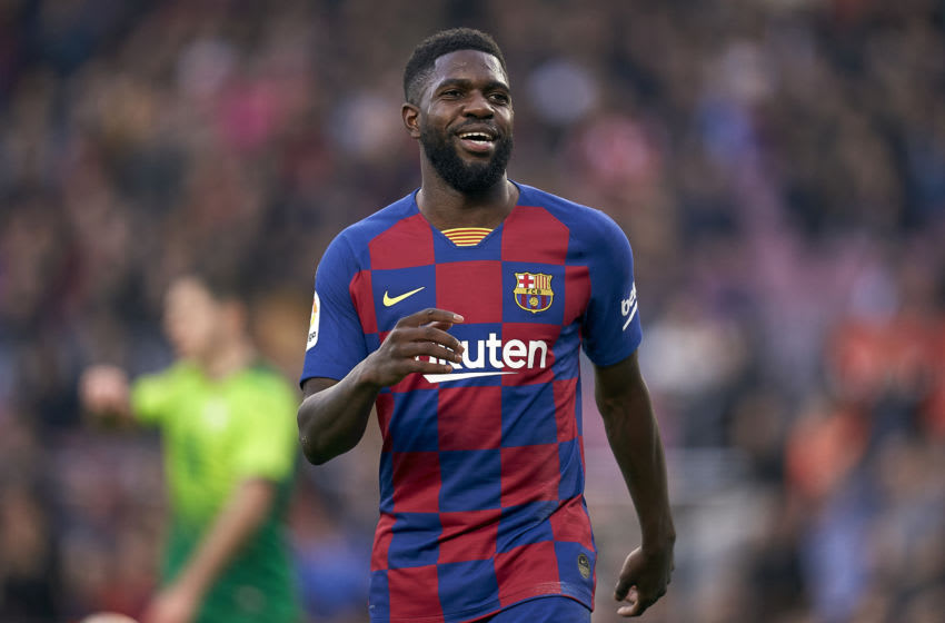 Samuel Umtiti of FC Barcelona. (Photo by Pedro Salado/Quality Sport Images/Getty Images)