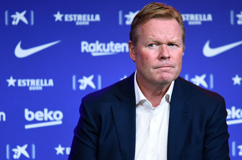 Barcelona's new Dutch coach Ronald Koeman (Photo by JOSEP LAGO/AFP via Getty Images)