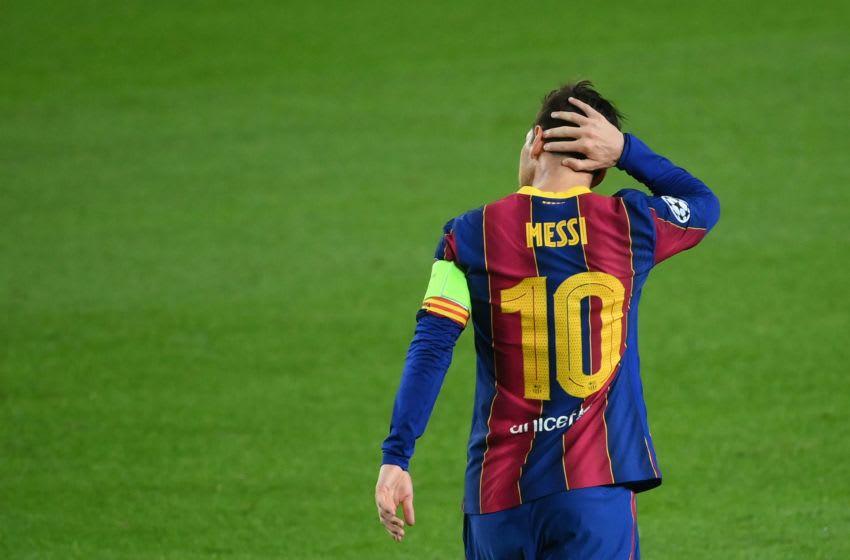 Barcelona's Argentine forward Lionel Messi Photo by LLUIS GENE/AFP via Getty Images)