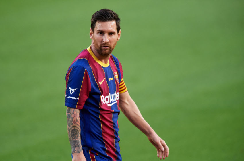 Lionel Messi of FC Barcelona (Photo by Alex Caparros/Getty Images)