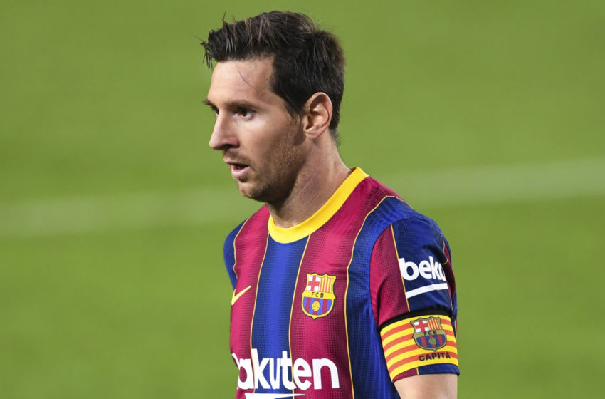Lionel Messi of FC Barcelona (Photo by David Ramos/Getty Images)