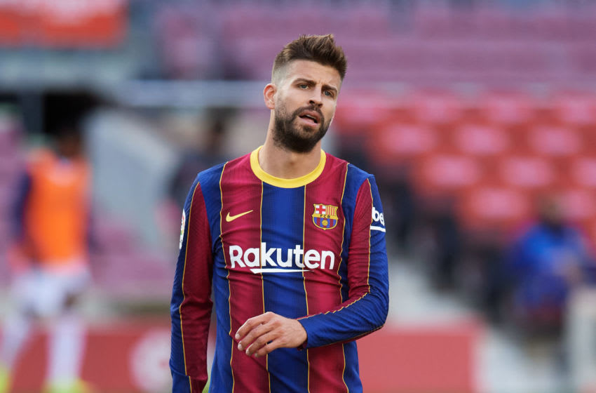 Gerard Pique of FC Barcelona (Photo by Alex Caparros/Getty Images)