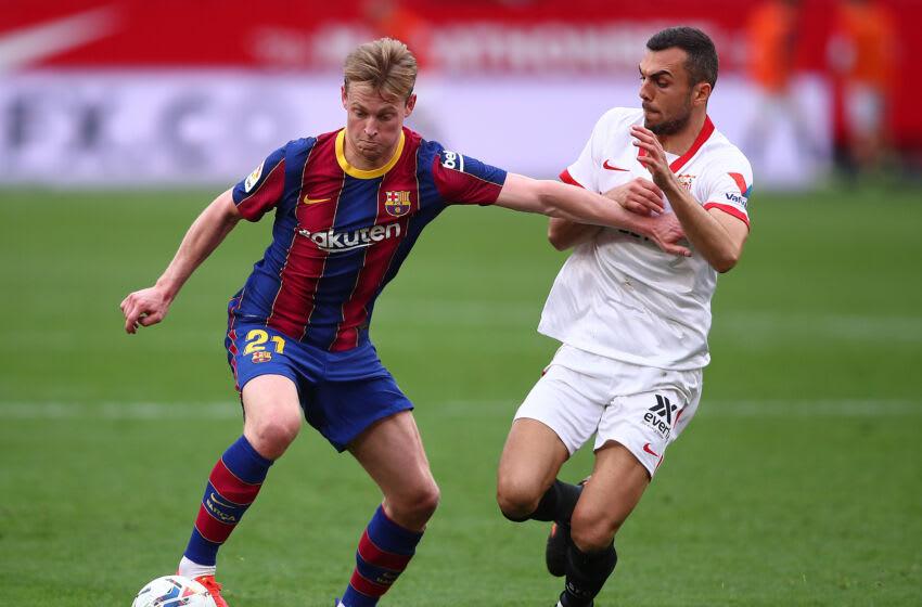Frenkie de Jong of FC Barcelona. (Photo by Fran Santiago/Getty Images)