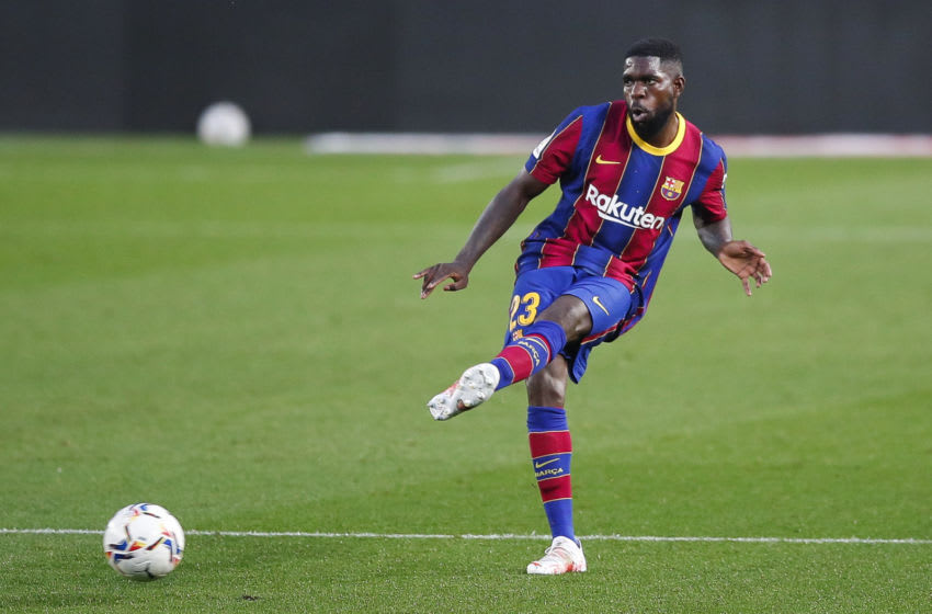 Samuel Umtiti of FC Barcelona . (Photo by Eric Alonso/Getty Images)