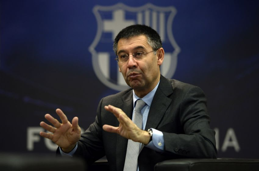 FC Barcelona's president Josep Maria Bartomeu answers to AFP journalists during an interview at Camp Nou stadium in Barcelona on March 24, 2014. Bartomeu has insisted that Lionel Messi will become the world's highest paid footballer once negotiations over his new contract are finalised. AFP PHOTO/ LLUIS GENE (Photo credit should read LLUIS GENE/AFP via Getty Images)