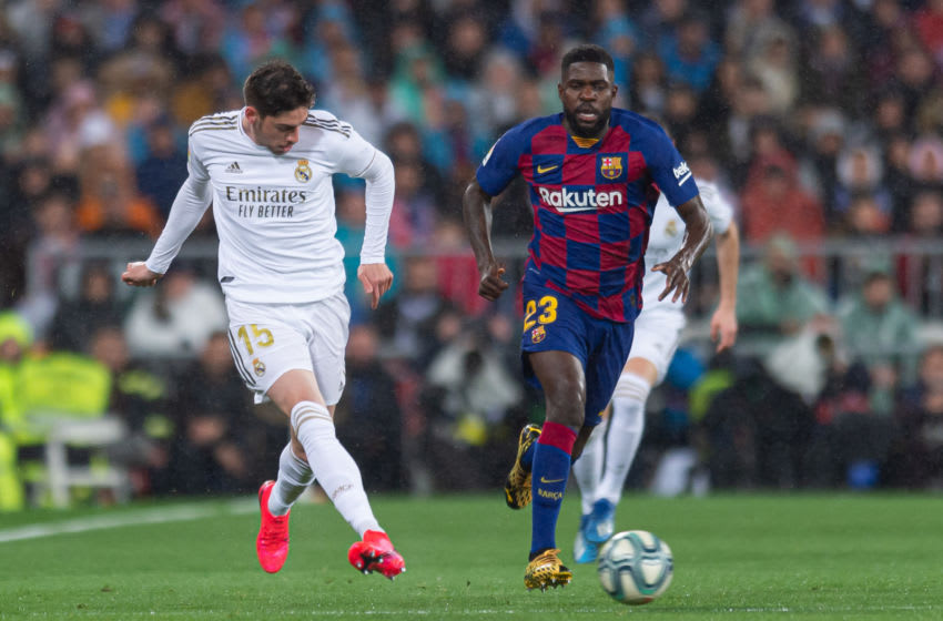 Samuel Umtiti of FC Barcelona. (Photo by Alejandro Rios/DeFodi Images via Getty Images)
