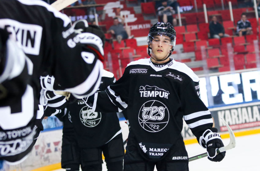 New York Islanders prospect Ruslan Iskhakov. Photo property of TPS. Used by permission of Eero Tuominen (TPS Head of Marketing and Communications).