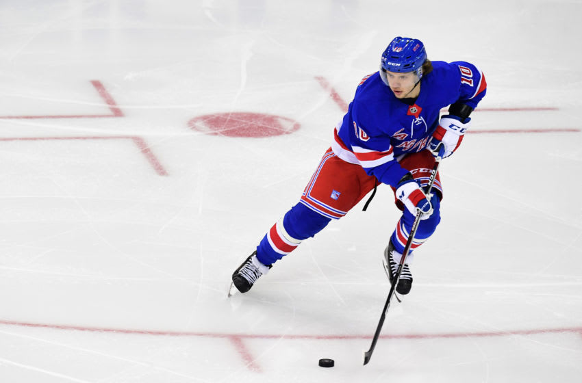 Artemi Panarin #10 of the New York Rangers (Photo by Emilee Chinn/Getty Images)