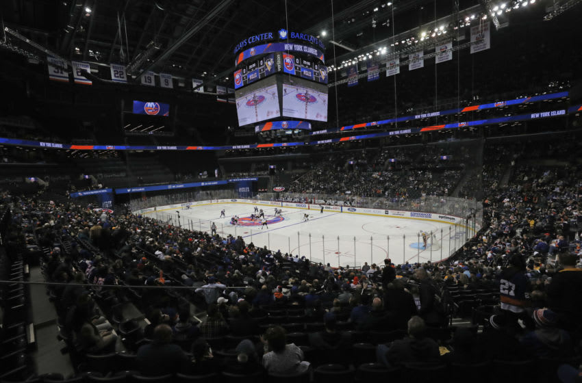 NEW YORK, NEW YORK - NOVEMBER 21: A general view during the game between the New York Islanders and the Pittsburgh Penguins at the Barclays Center on November 21, 2019 in the Brooklyn borough of New York City. (Photo by Bruce Bennett/Getty Images)