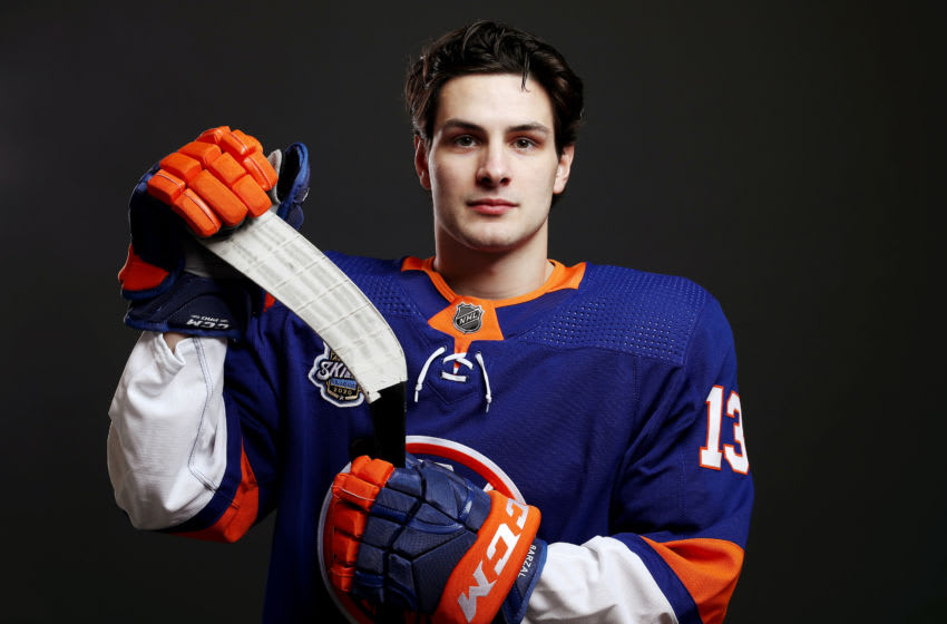 ST LOUIS, MISSOURI - JANUARY 24: Mathew Barzal #13 of the New York Islanders poses for a portrait ahead of the 2020 NHL All-Star Game at Enterprise Center on January 24, 2020 in St Louis, Missouri. (Photo by Jamie Squire/Getty Images)