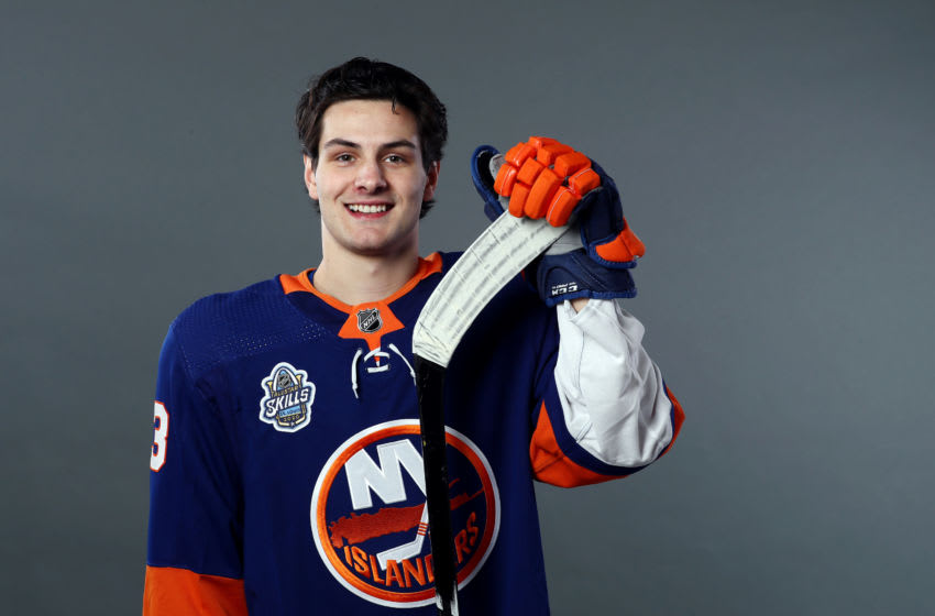 Mathew Barzal #13 of the New York Islanders (Photo by Jamie Squire/Getty Images)