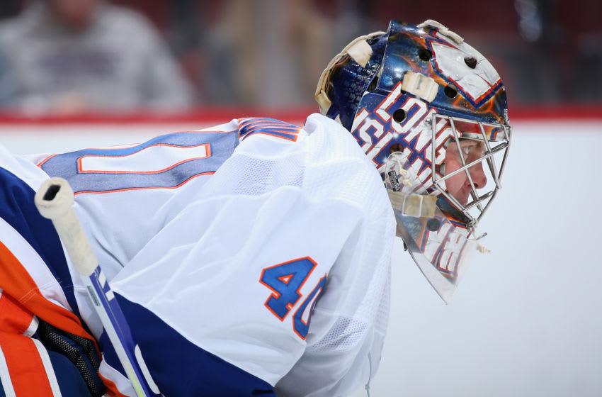 Goaltender Semyon Varlamov #40 of the New York Islanders (Photo by Christian Petersen/Getty Images)