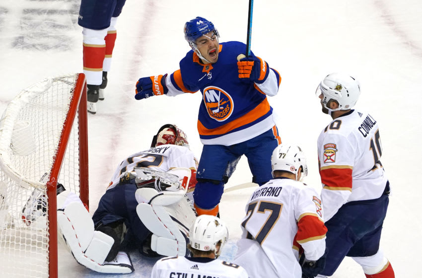 Jean-Gabriel Pageau #44 of the New York Islanders (Photo by Andre Ringuette/Freestyle Photo/Getty Images)
