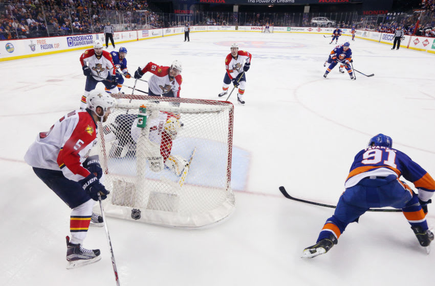 John Tavares #91 of the New York Islanders. (Photo by Bruce Bennett/Getty Images)