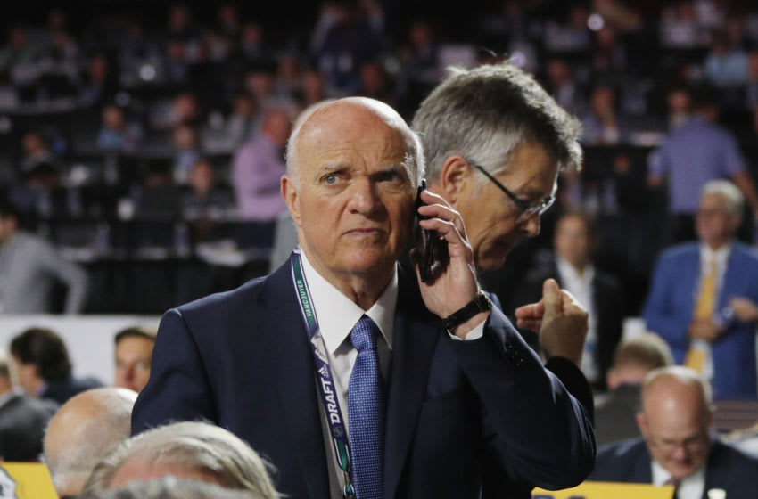 Lou Lamoriello of the New York Islanders (Photo by Bruce Bennett/Getty Images)
