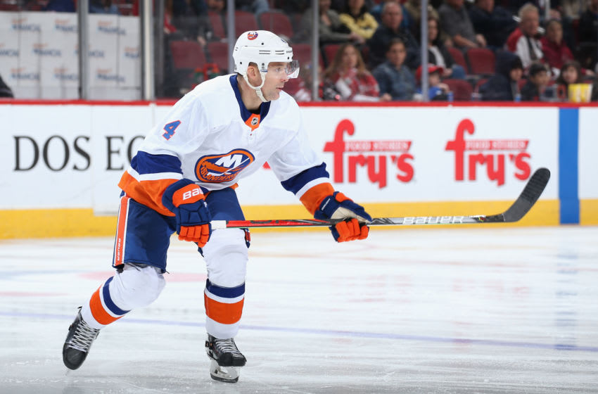 Andy Greene #4 of the New York Islanders (Photo by Christian Petersen/Getty Images)