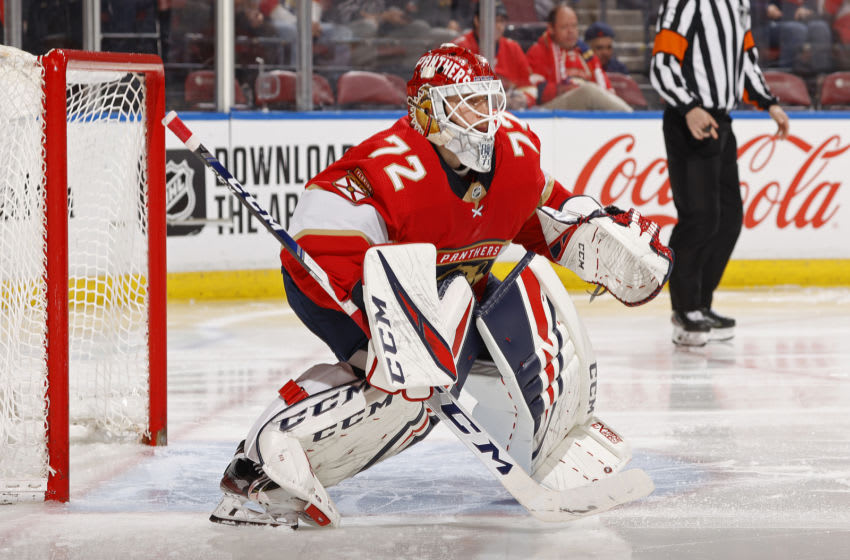 Goaltender Sergei Bobrovsky #72 of the Florida Panthers (Photo by Joel Auerbach/Getty Images)