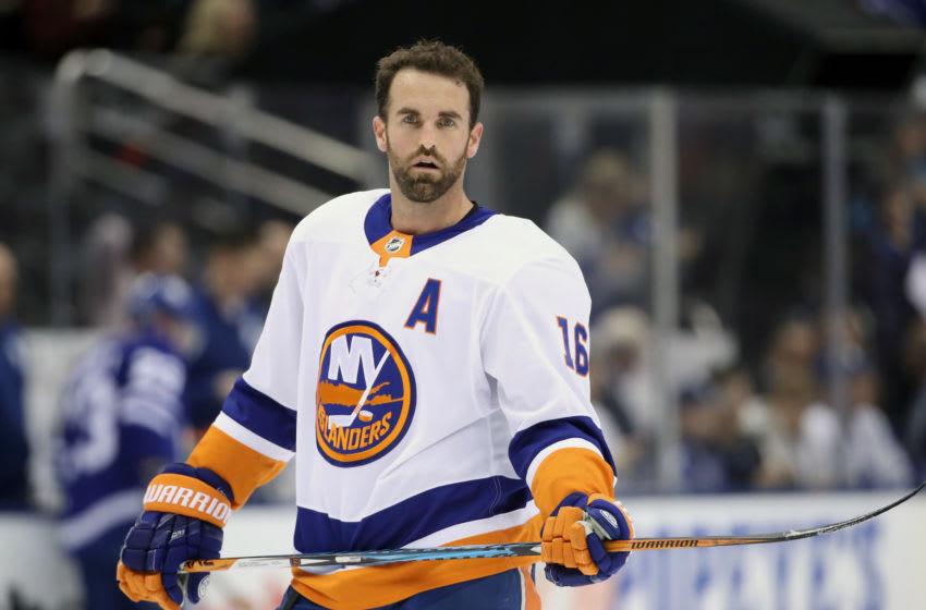 New York Islanders left wing Andrew Ladd (16) (Mandatory Credit: Tom Szczerbowski-USA TODAY Sports)