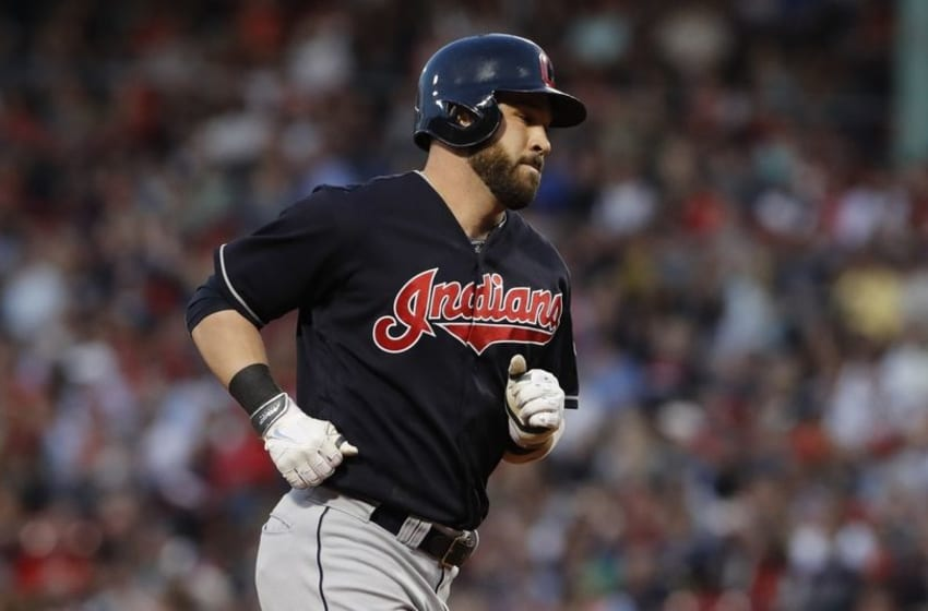 May 20, 2016; Boston, MA, USA; Cleveland Indians second baseman Jason Kipnis (22) rounds the bases after hitting a three run homer against the Boston Red Sox in the third inning at Fenway Park. Mandatory Credit: David Butler II-USA TODAY Sports